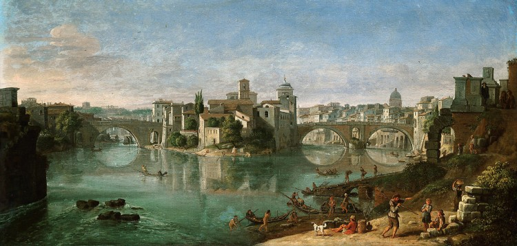 Gar van Wittel   View of the Tiber in Rome   Kunsthistorisches Museum