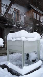 installation sous la neige