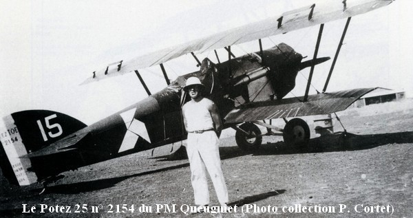 Potez 25 n  2154 du PM Queugniet  photo  collection P. Cortet
