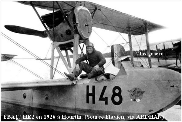 FBA 17 HE2 en 1926 a Hourtin Ecole de pilotage