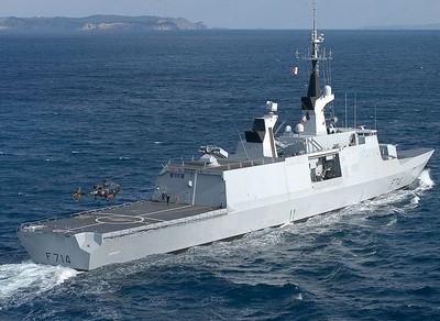 Photo de la Fregate Guepratte a la mer