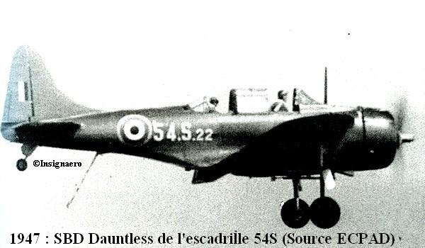 1947. SBD Dauntless de l escadrille 54S