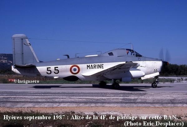 Alize de la 4F a Hyeres en septembre 1987