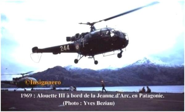 Alouette III de la 35F au large de la Patagonie