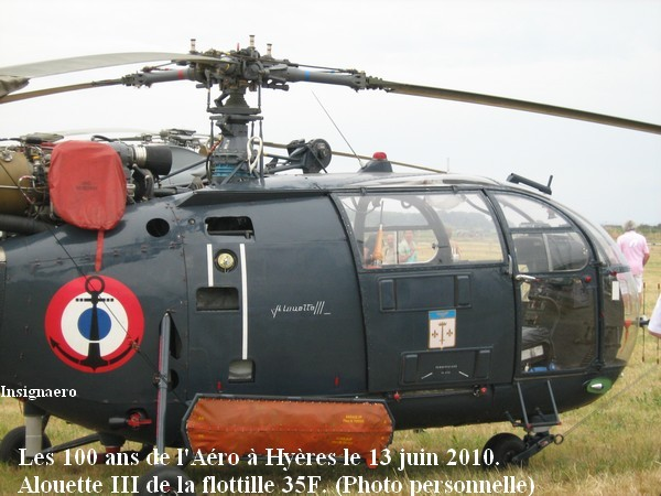 Alouette III de la Flottille 35F a Hyeres en 2010