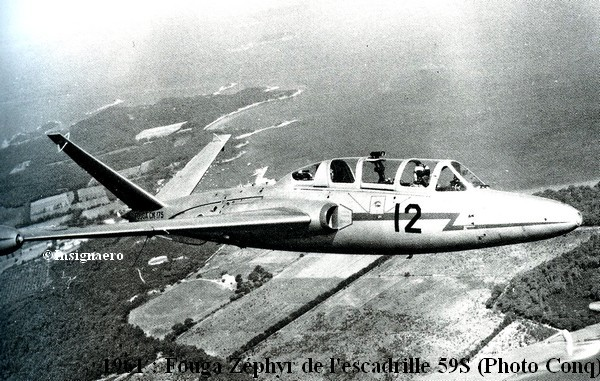 Fouga Zephyr de la 59S en 1961
