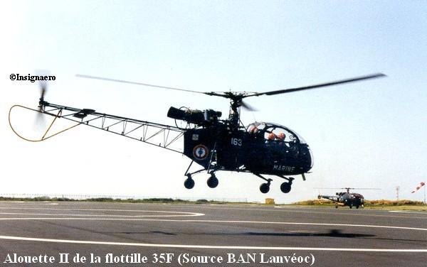 Helicoptere Alouette II de la flottille 35F