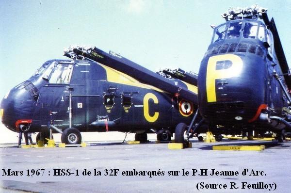 Helicoptere HSS.1 de la 32F sur le P.H Jeanne D arc