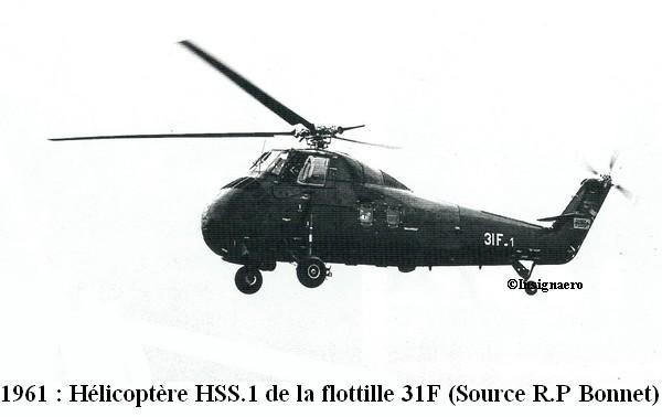 Helicoptere HSS.1 en Algerie de la 31F