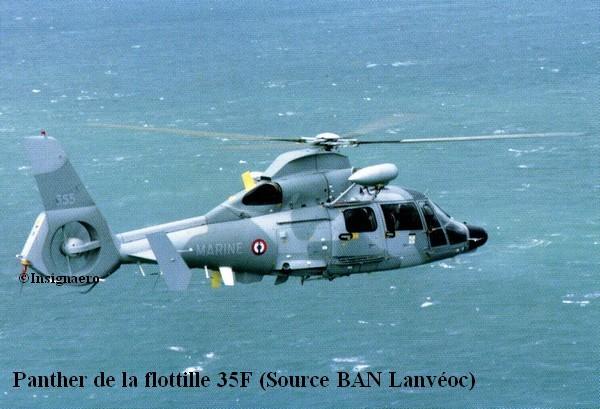 Helicoptere Panther de la flottille 35F