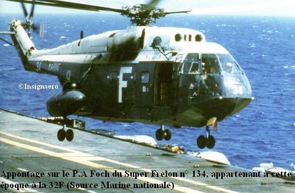 Helicoptere Super Frelon numero 134 de la 32F