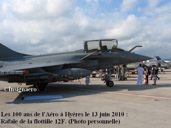 Rafale de la 12F au meeting de Hyeres le 13 juin 2010