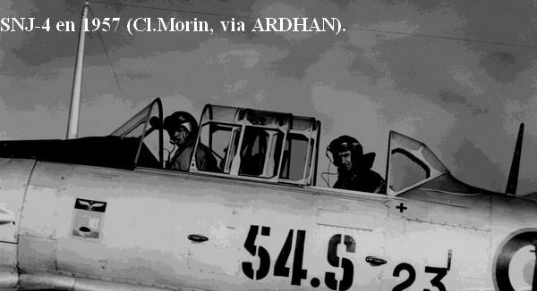 SNJ.4 de la 54S en 1957