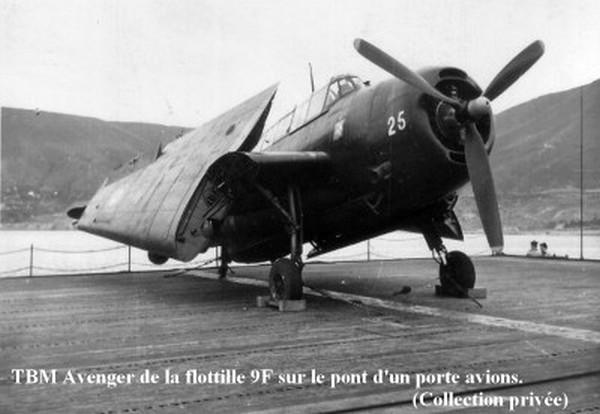 TBM Avenger affecte a la flottille 9F