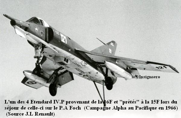 Un des 4 Etendard IV P de la 16F pretes a la 15