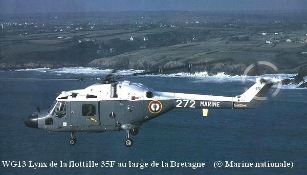 WG13 Lynx de la flottille 35F en Bretagne