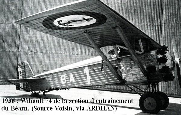 1936. Wibault 74 de la SESBA