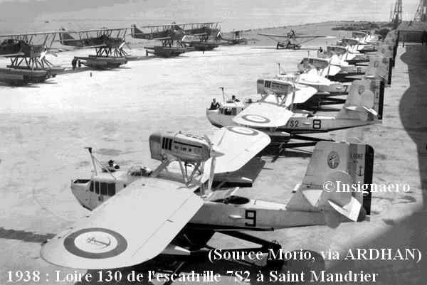 1938 . Loire 130 de l escadrille 7S2 a St Mandrier.