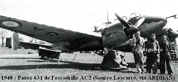 1940. Potez 631 de l escadrille AC2