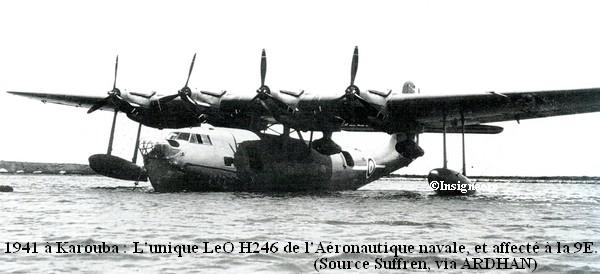 1941 a Karouba. LeO H246 de l escadrille 9E.