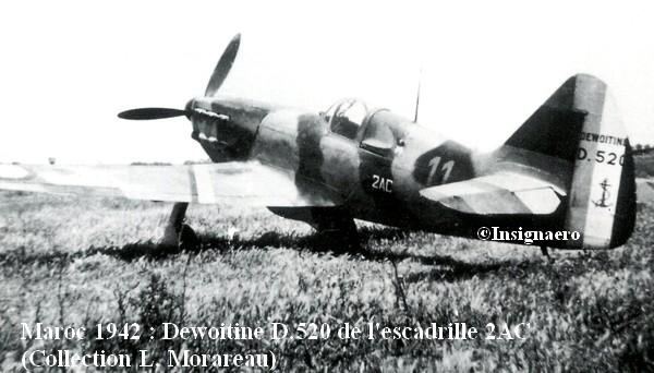 1942. Dewoitine D.520 de l escadrille 2AC