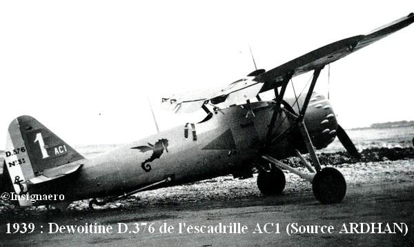 Dewoitine D.376 de l escadrille AC1