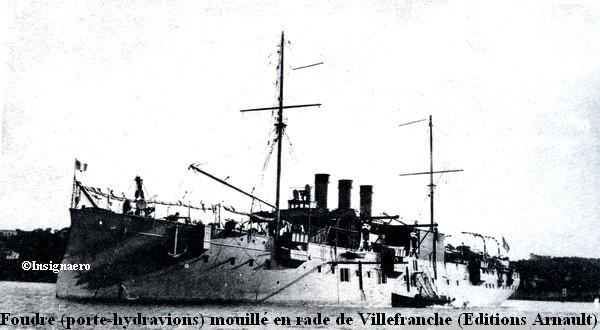 Foudre porte hydravions mouille a Villefranche