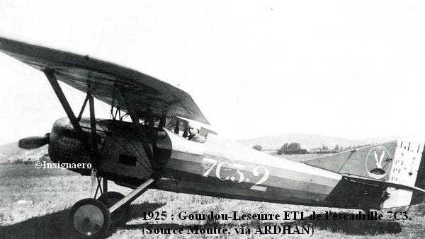 Gourdou Leseurre ET1 de l escadrille 7C3
