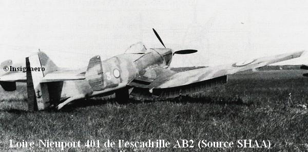 Loire Nieuport 401 de l escadrille AB2 Source SHAA