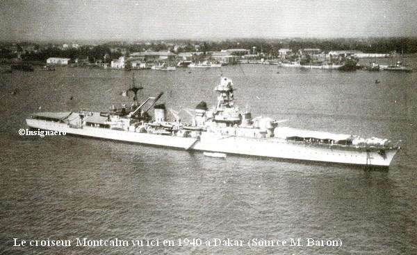 Croiseur Montcalm vu a Dakar en 1940