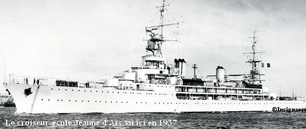 Croiseur ecole Jeanne d Arc en 1937