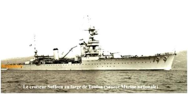 Le Suffren au large de Toulon