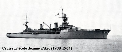 Le croiseur ecole Jeanne d Arc vu ici avant 1939