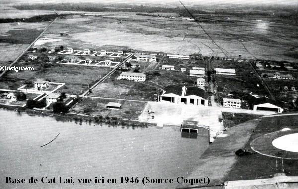La base de Cat Lai vue en 1946