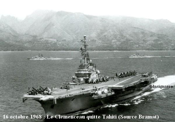 0ctobre 1968 le Clem quitte Tahiti