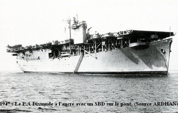 1947 le Dixmude a l ancre