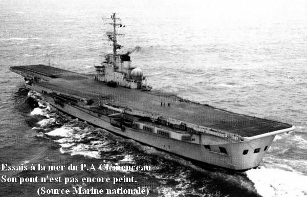 Essais a la mer du P.A Clemenceau