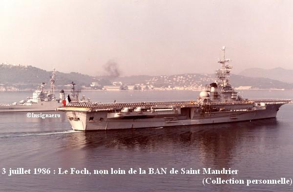 Le PA Foch vu en juillet 1986