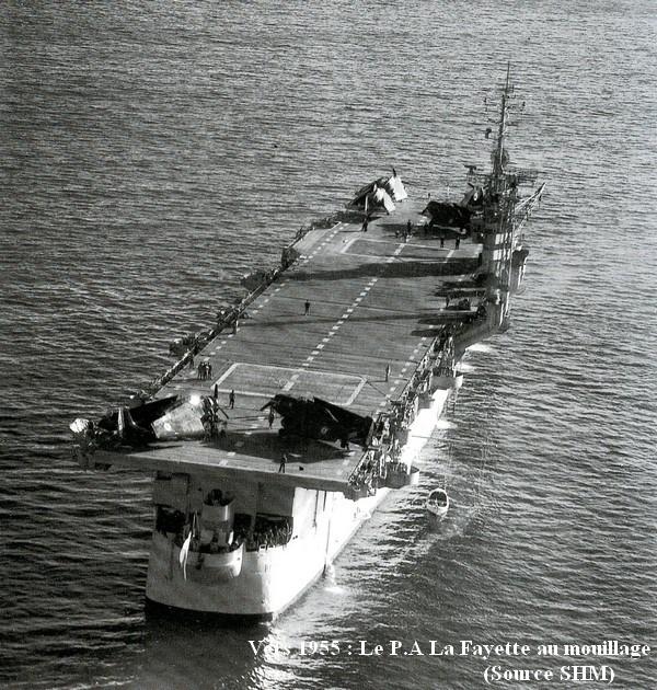 Vers 1955. Le P.A Lafayette au mouillage
