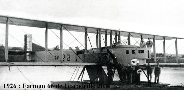 1926. Farman 66 de l escadrille 2R1
