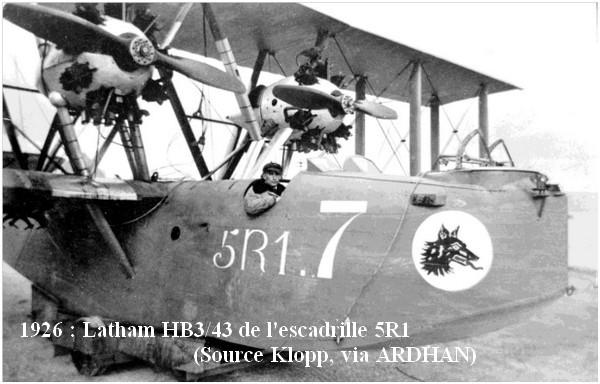 1926  Latham HB3.43 de l escadrille 5R1