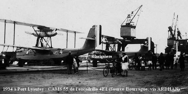 1934. CAMS 55 de l escadrille 4E1