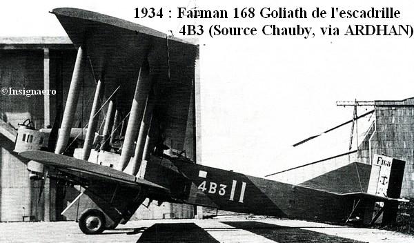 1934  Farman Goliath 168 de l escadrille 4B3
