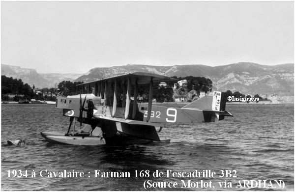 1934 a Cavalaire  Farman F168 de l escadrille 3B2