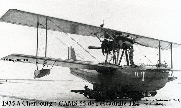 1935 a Cherbourg. CAMS 55 de l escadrille 1E1
