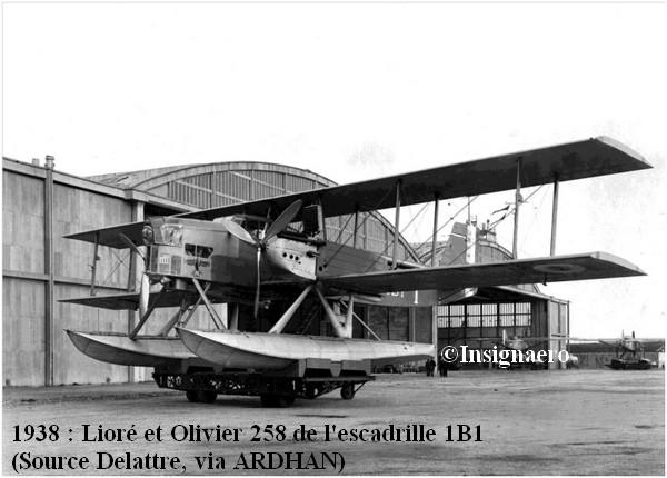 1938. Liore et Olivier 258  de l escadrille 1B1