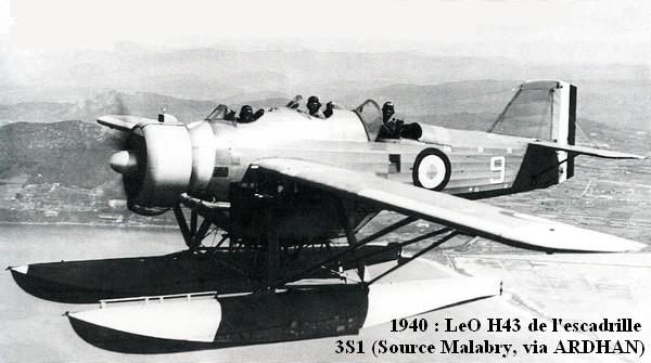 1940. LeO H43 de l escadrille 3S1