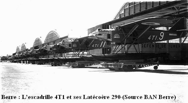 Berre  .Latecoere 290 de l escadrille 4T1