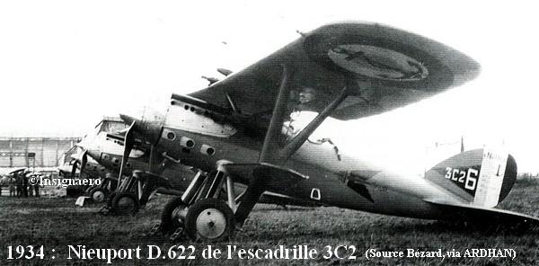 En 1934 Nieuport 622 de l escadrille 3C2