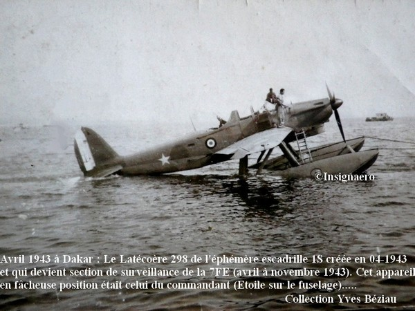 Latecoere 298 de la section de surveillance de la 7FE en 1943. Bis